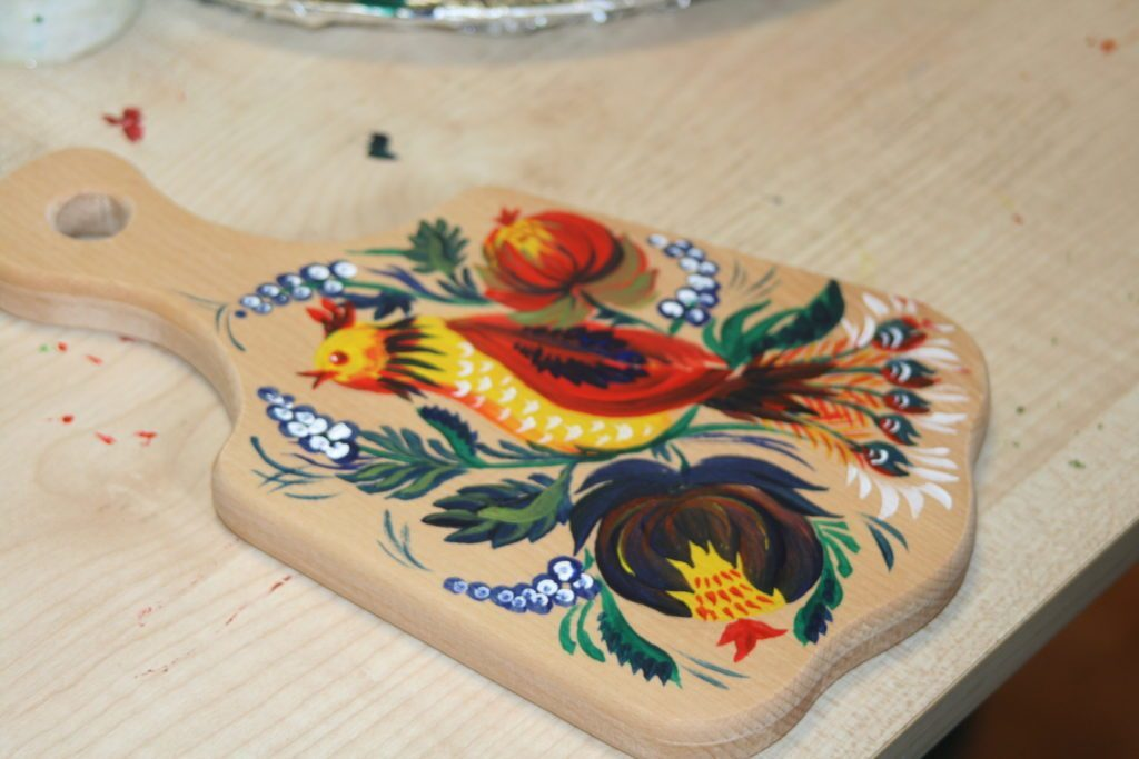 Мастер-класс петриковской росписи