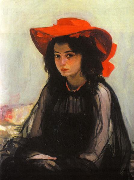 10 самых известных картин украинских художников: Александр Мурашко «Девушка в красной шляпке»