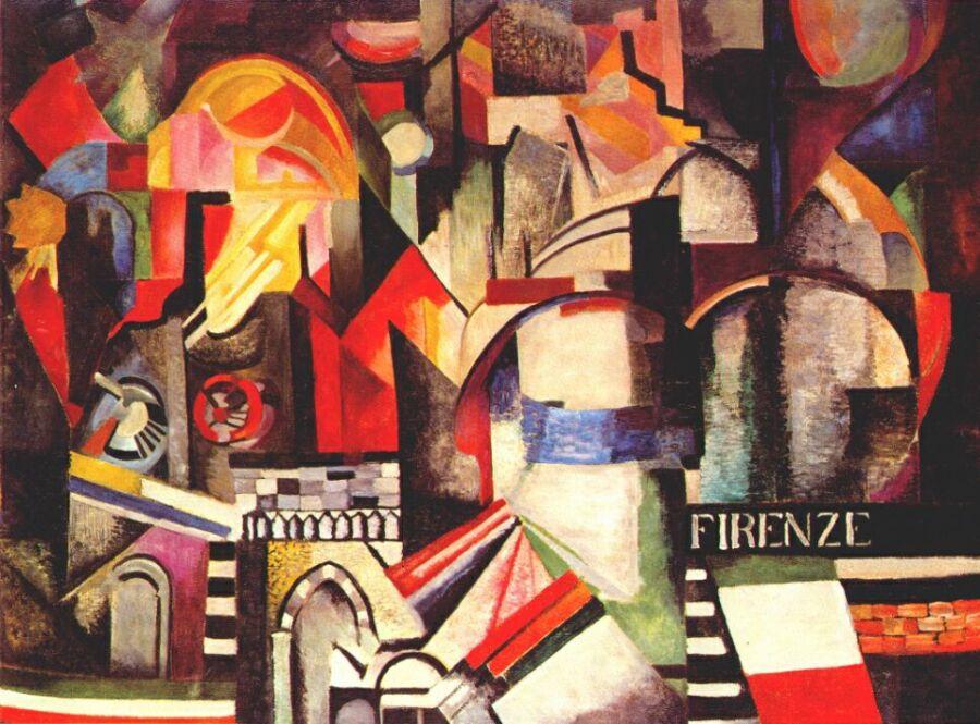10 самых известных картин украинских художников: Александра Экстер «Флоренция»