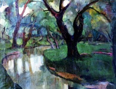 10 самых известных картин украинских художников: Альдаберт Ердели «Пейзаж с рекой