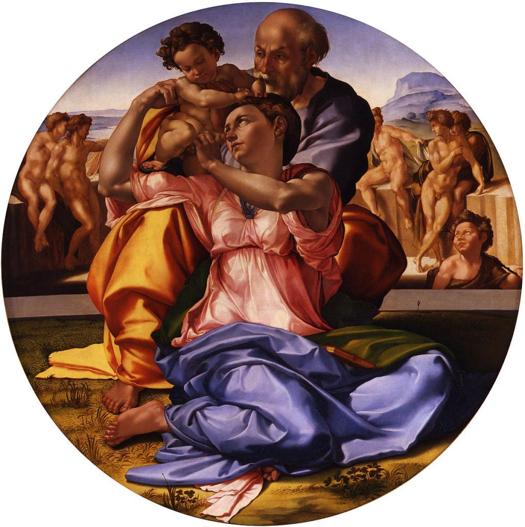 """Самые известные картины европейских художников: Микеланджело Буонарроти """"Мадонна Дони"""""""