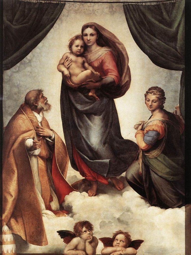 """Найвідоміші картини європейських художників: Рафаэль Санті """"Сикстинська Мадонна"""""""
