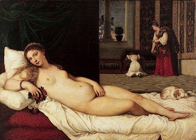 """Найвідоміші картини європейських художників: Тіциан """"Венера Урбінська"""""""