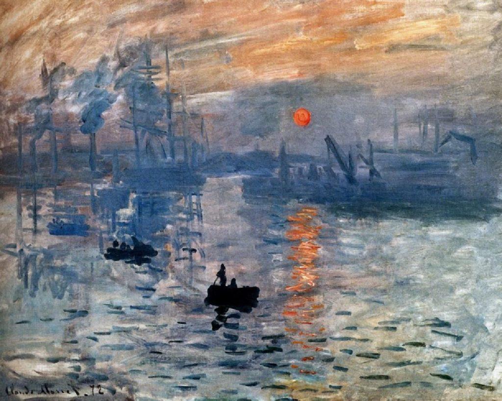 """Самые известные картины европейских художников: Клод Моне """"Восход солнца. Впечатление"""""""