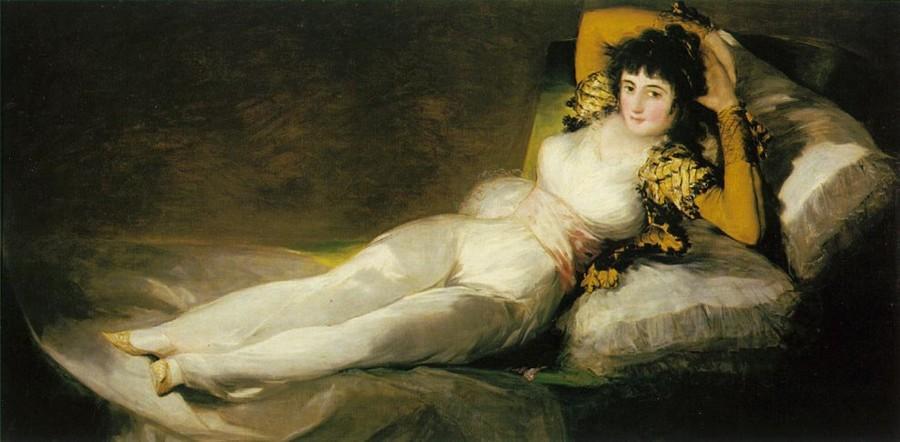 """Найвідоміші картини європейських художників: Франсиско Гойя """"Маха"""""""