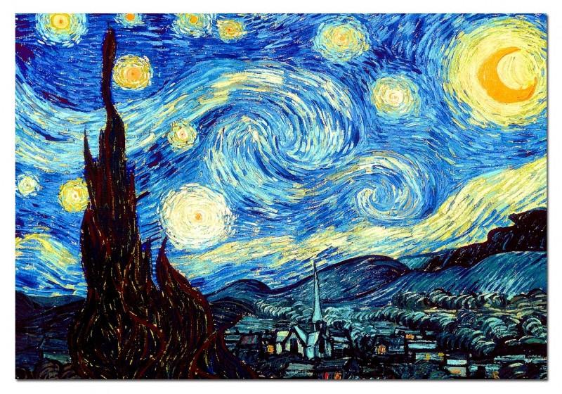 """Самые известные картины европейских художников: Винсент ван Гог """"Звездная ночь"""""""