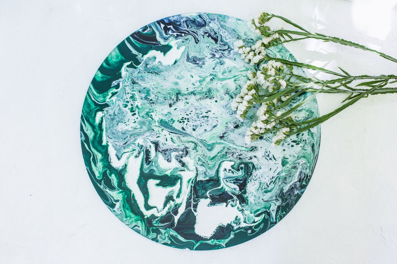 Жидкий акрил - Fluid art