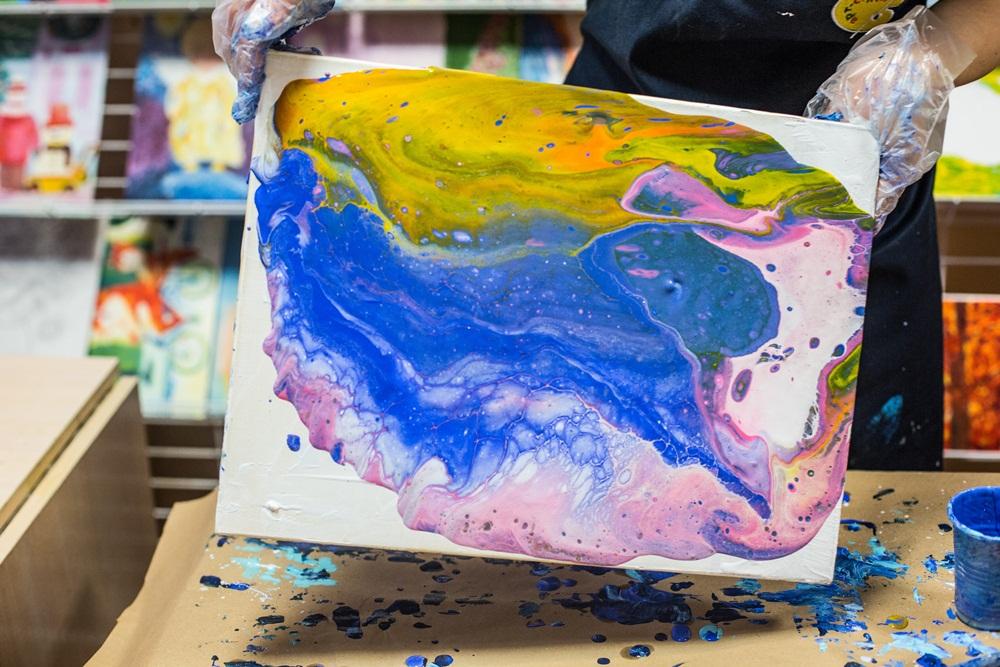 Liquid acrylic painting