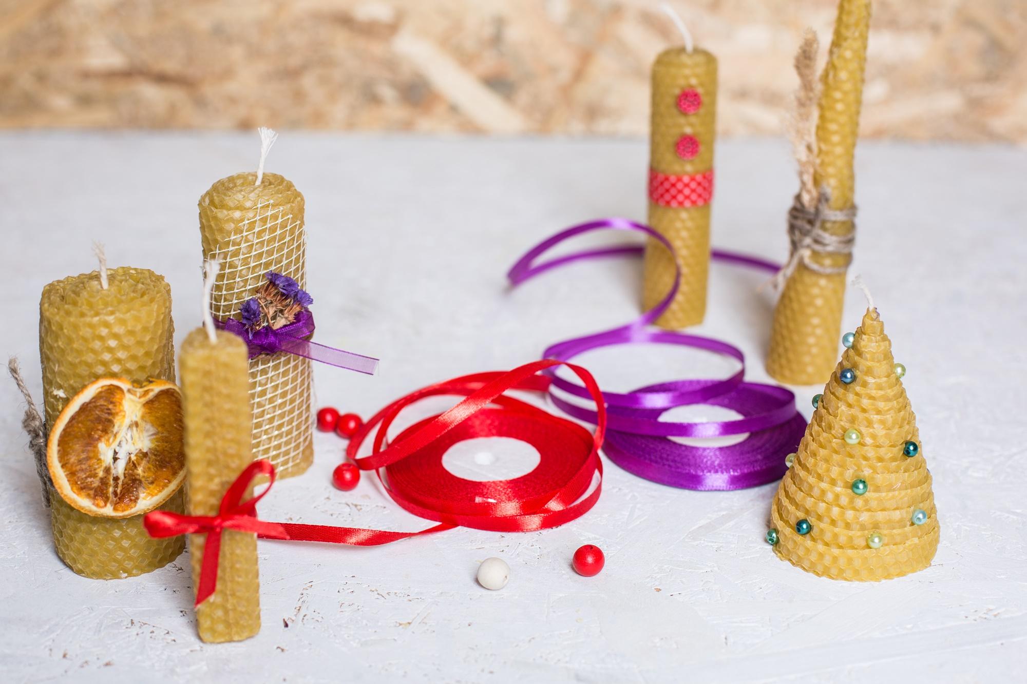 Медові свічки - релакс, насолода творчості і ароматерапія