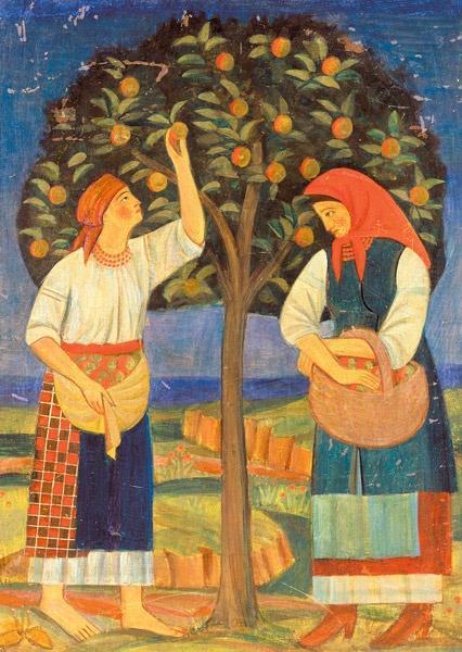 «Женщины у яблони», 1920 год