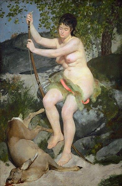 «Диана-охотница», Пьер-Огюст Ренуар, 1867 г.