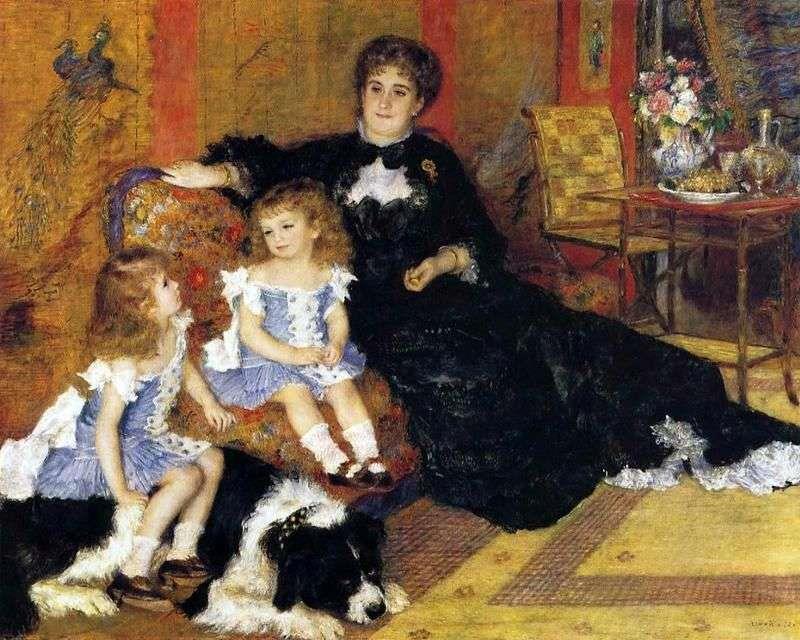 «Портрет мадам Шарпантье с детьми», Пьер-Огюст Ренуар, 1878 г.