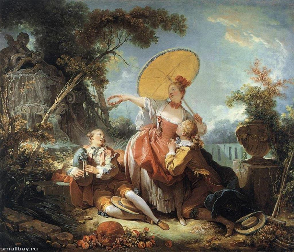 «Музыкальное пари», Жан-Оноре Фрагонар, 1754 г.